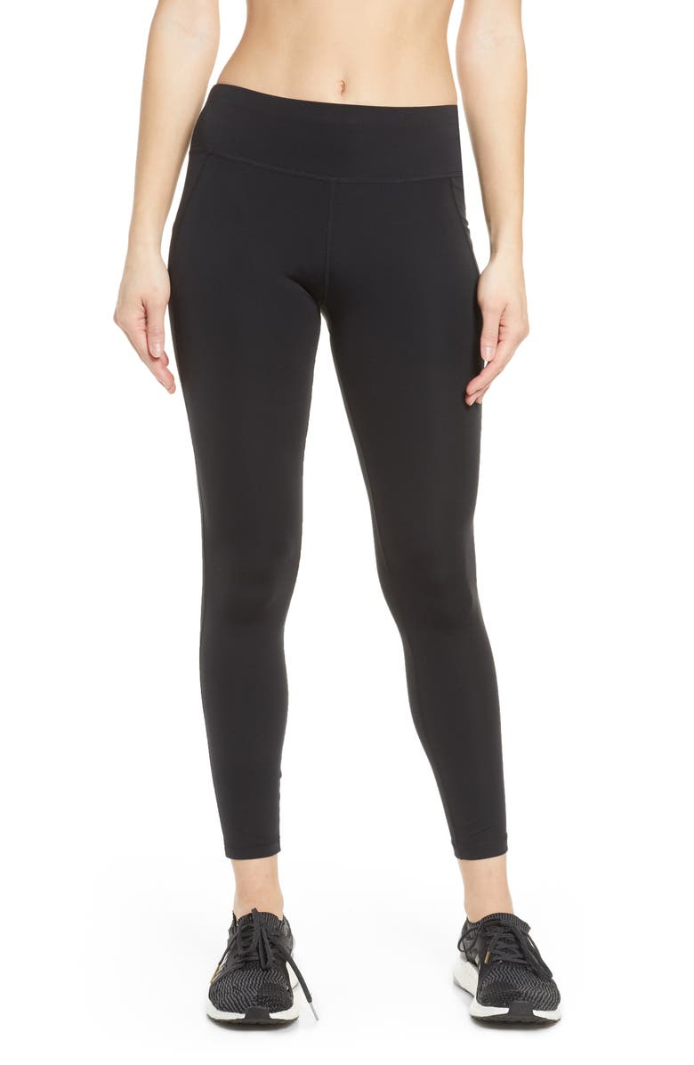SWEATY BETTY All Day Crop Workout Leggings, Main, color, BLACK