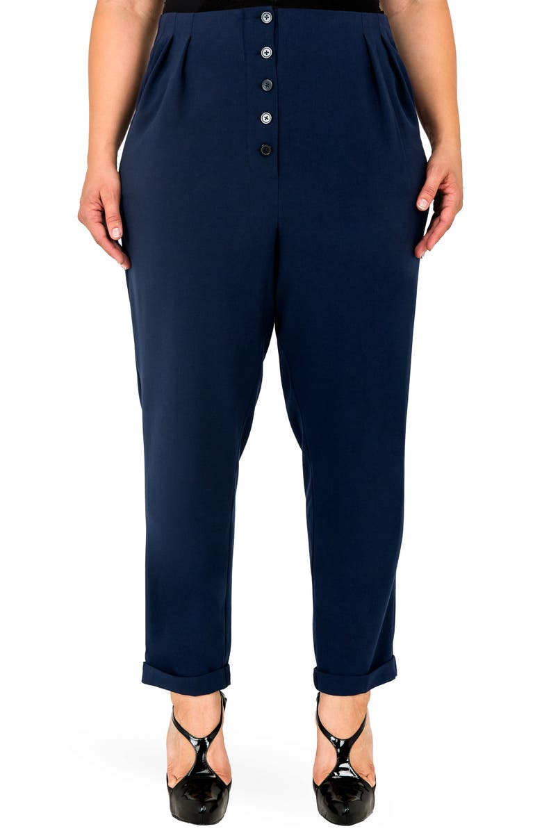 STANDARDS & PRACTICES Francine High Rise Skinny Pants, Main, color, NAVY