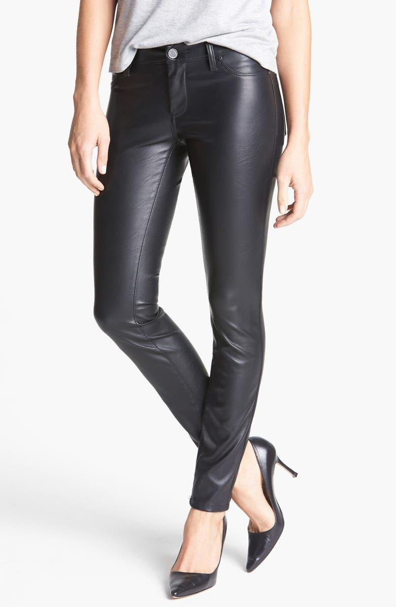 BLANKNYC Faux Leather Skinny Pants, Main, color, 005