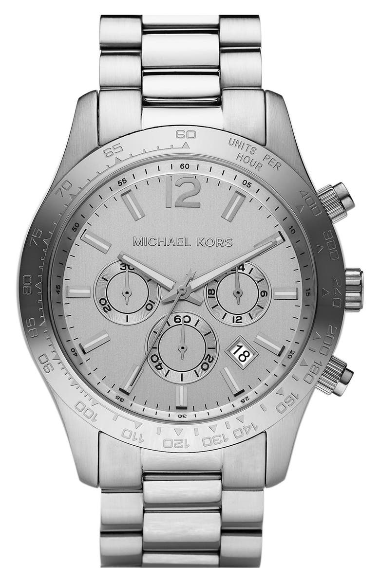 MICHAEL MICHAEL KORS Michael Kors 'Large Layton' Chronograph Watch, Main, color, 040