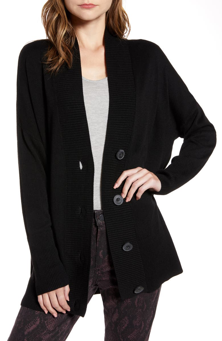 CHELSEA28 Oversize Button Front Cardigan, Main, color, 001