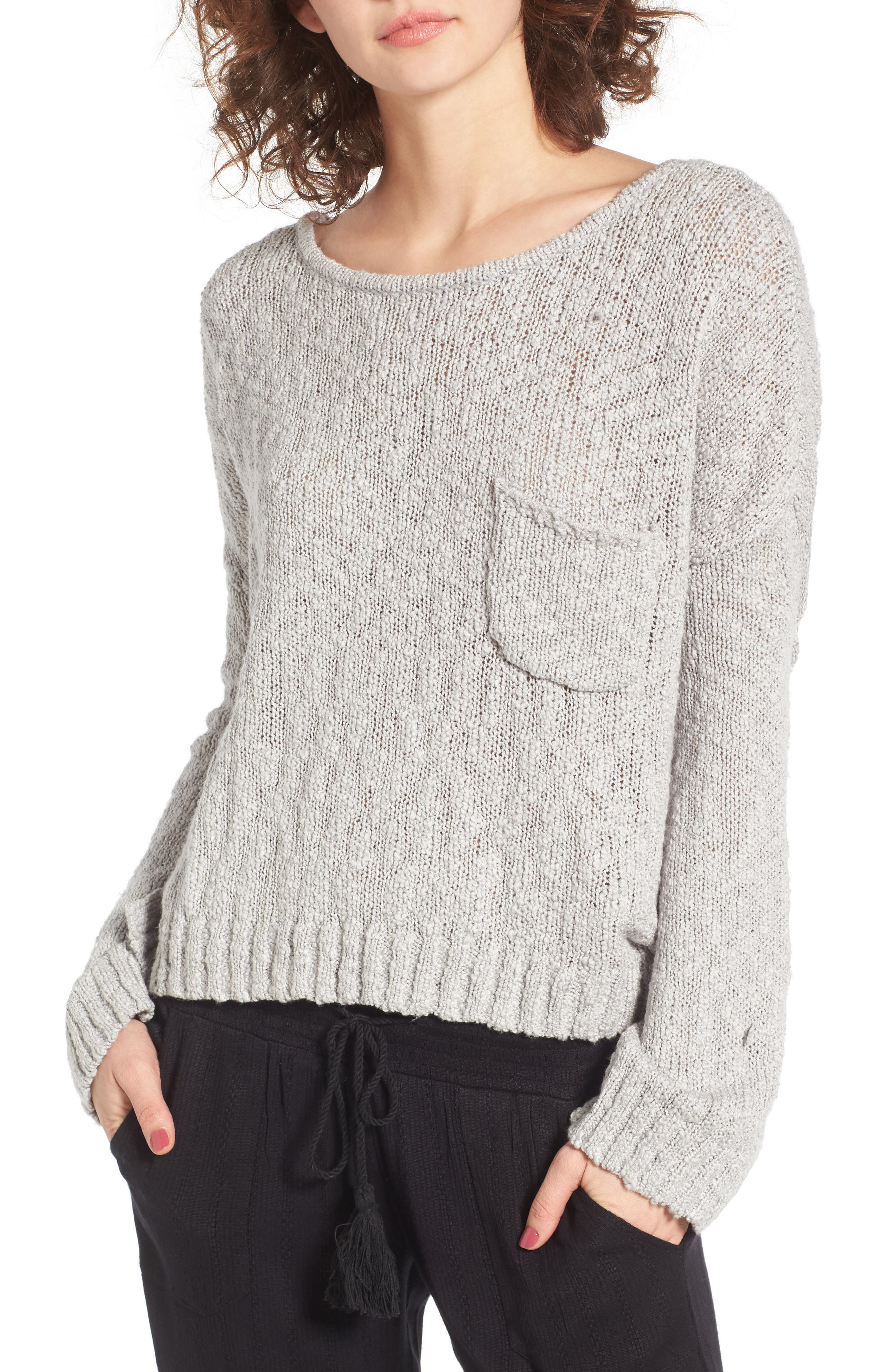 Roxy Juniors Dont Think Twice Cropped Sweater