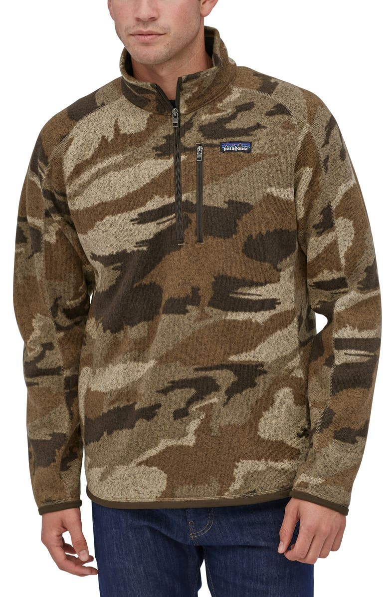 PATAGONIA Better Sweater<sup>®</sup> Quarter Zip Pullover, Main, color, KANSAS SKY CLASSIC TAN