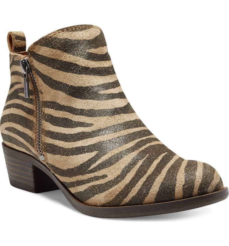 LUCKY BRAND Basel Bootie, Main, color, NATURAL LEATHER