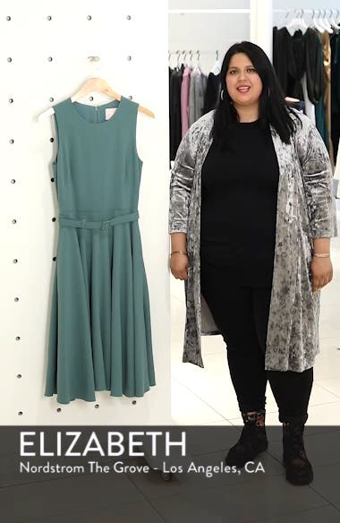Kaye Belted Fit & Flare Dress, sales video thumbnail