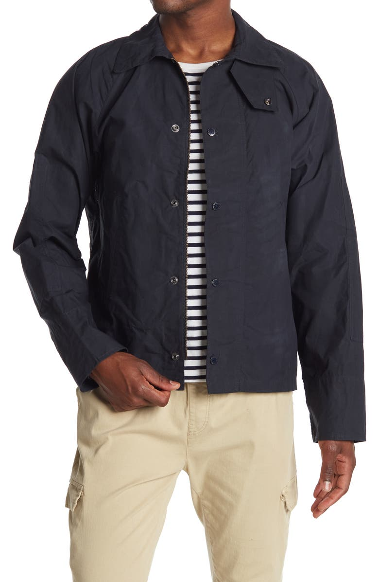 BARBOUR Covert Casual Jacket, Main, color, NAVY