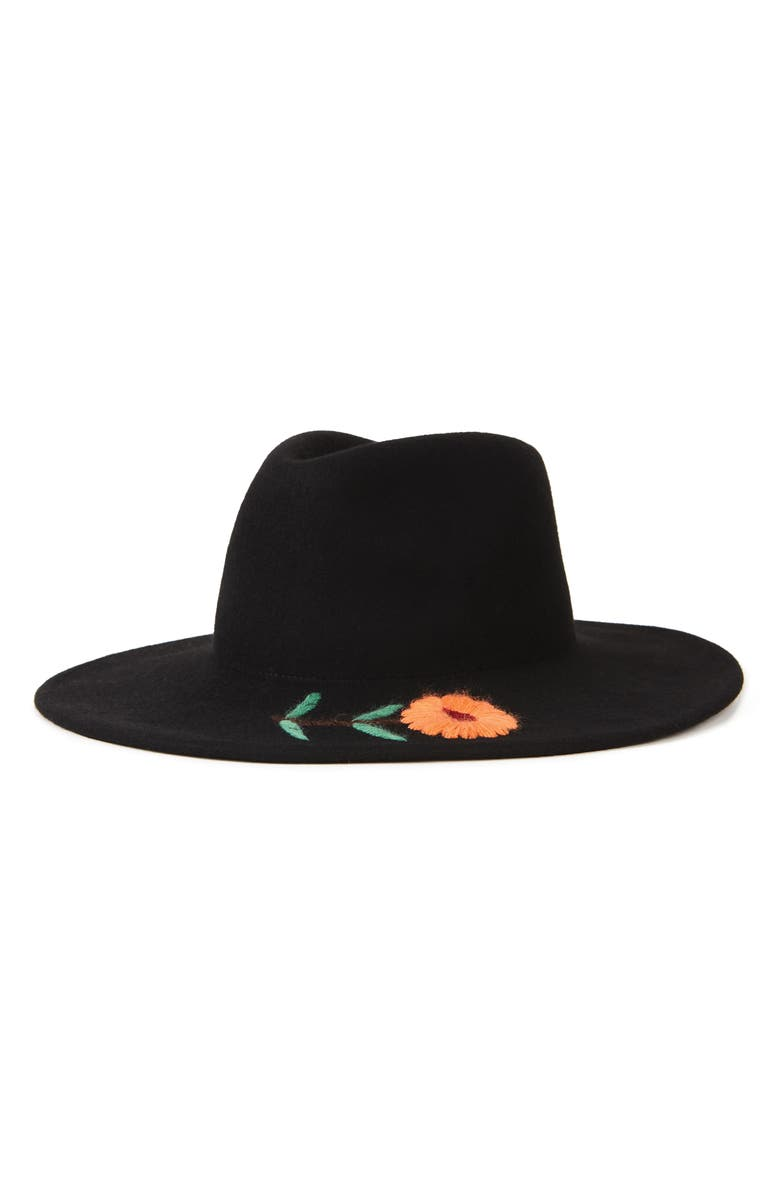 BRIXTON Corey Wool Fedora, Main, color, 001