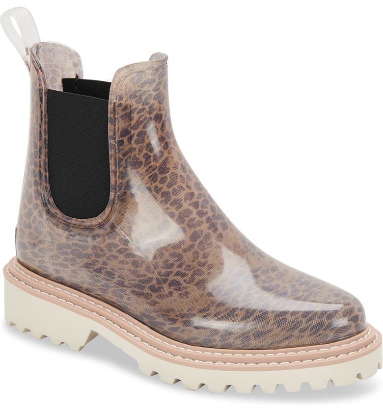 DOLCE VITA Stormy H2O Waterproof Chelsea Boot, Main, color, DK LEOPARD PATENT STELLA
