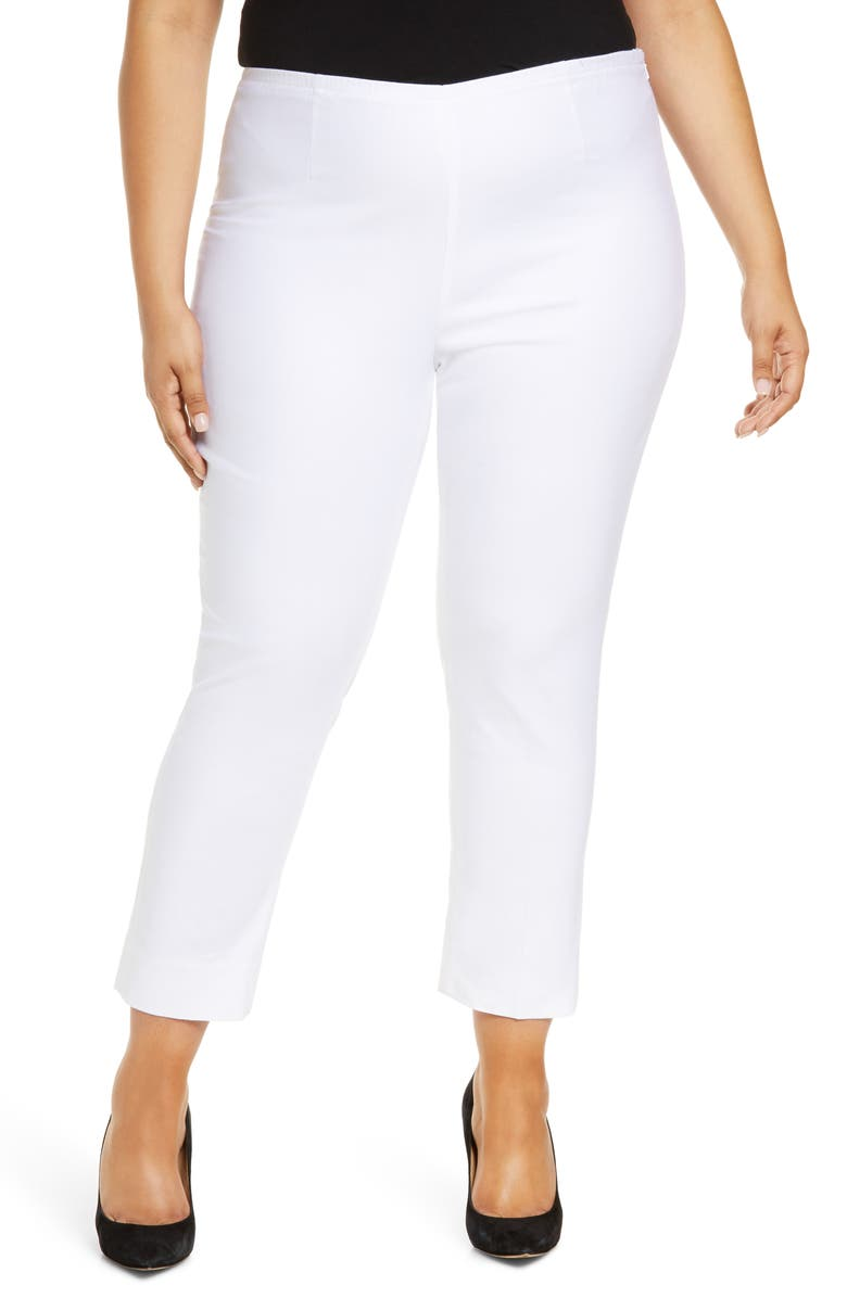 NIC+ZOE 'Perfect' High Rise Side Zip Pants, Main, color, 123