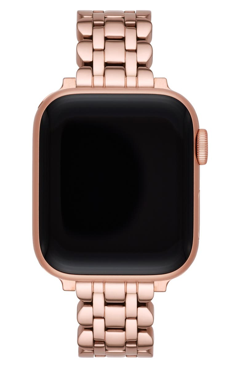 KATE SPADE NEW YORK scallop Apple Watch<sup>®</sup> bracelet, Main, color, ROSE GOLD