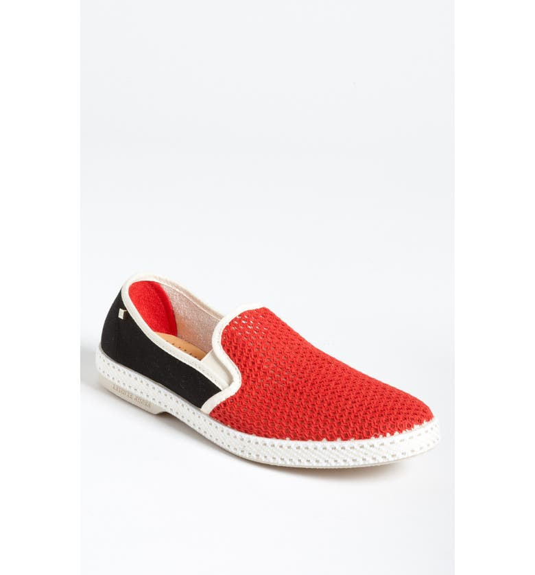 RIVIERAS 'About Time' Slip-On, Main, color, RED/ MARINE/ BEIGE