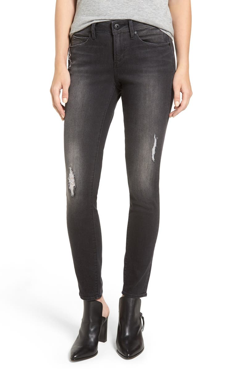 ARTICLES OF SOCIETY 'Sarah' Distressed Skinny Jeans, Main, color, 020