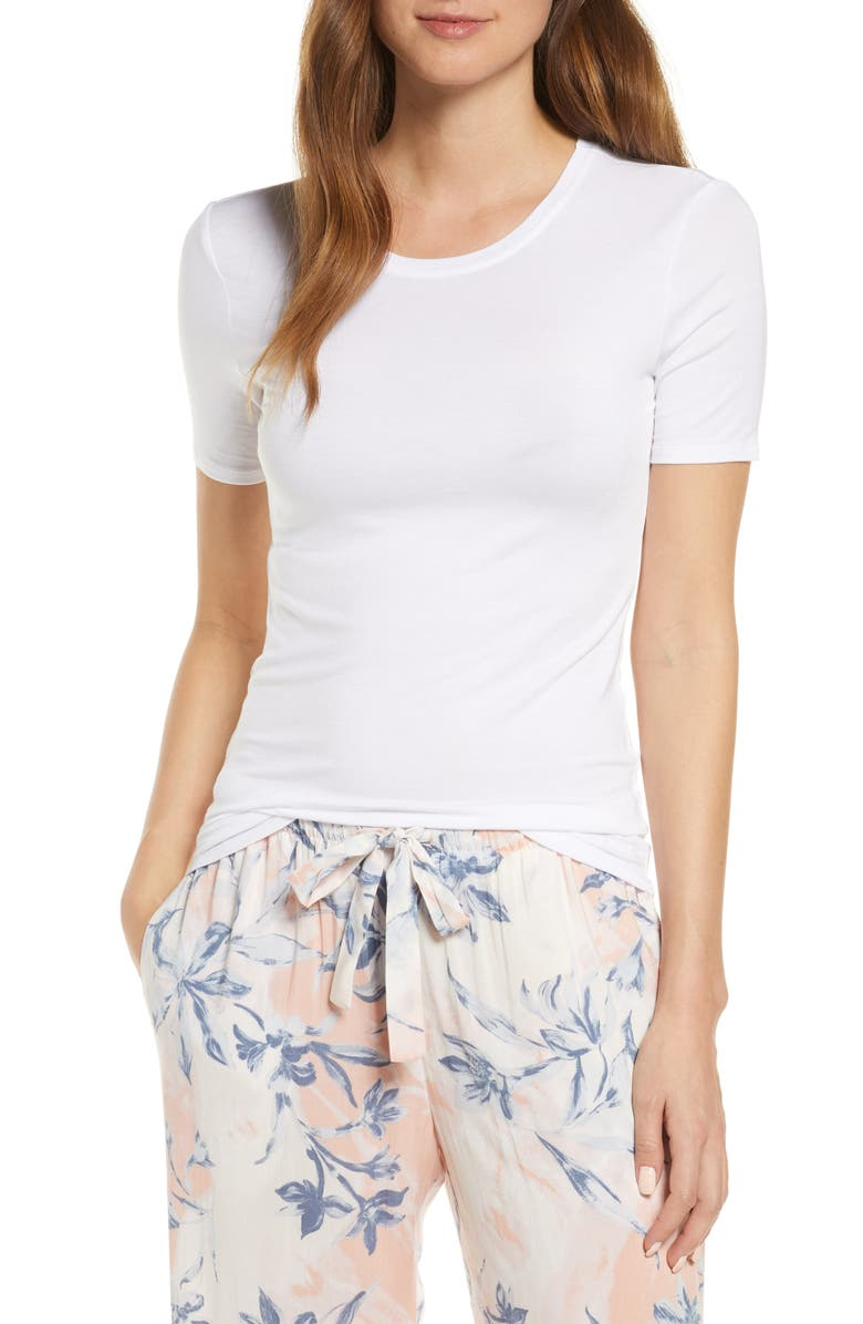 NORDSTROM Moonlight Comfort Layer T-Shirt, Main, color, WHITE