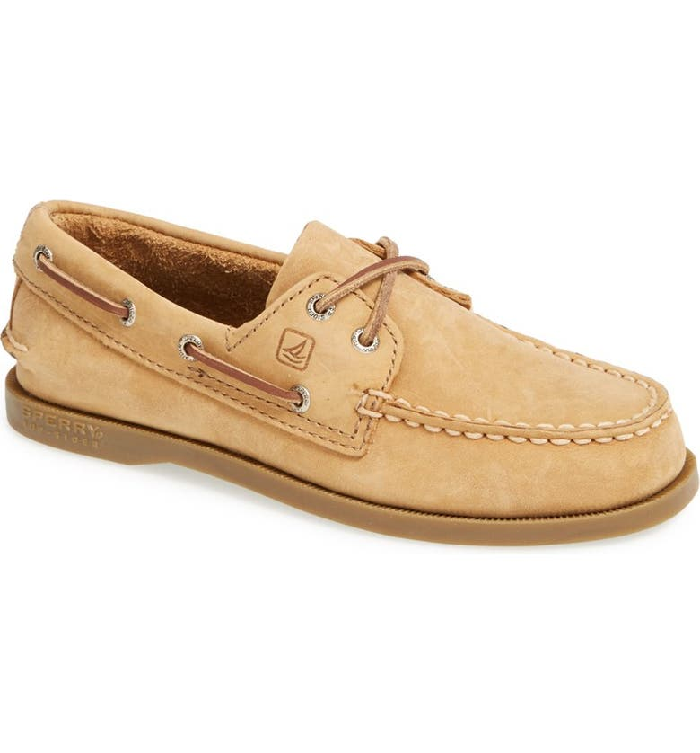 SPERRY Kids 'Authentic Original' Boat Shoe, Main, color, SAHARA LEATHER