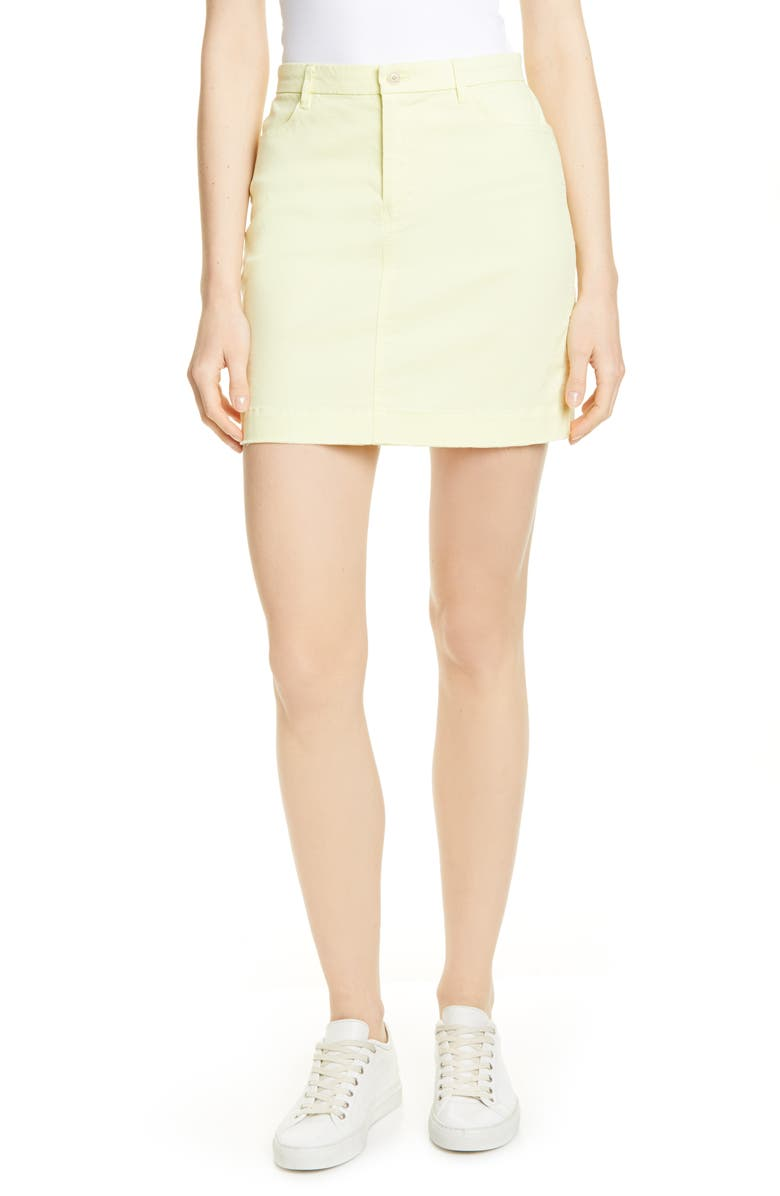 ATM ANTHONY THOMAS MELILLO Stretch Cotton Miniskirt, Main, color, 720
