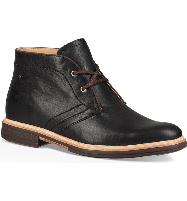 UGG<SUP>®</SUP> Dagmann Chukka Boot, Main, color, BLACK LEATHER/SUEDE