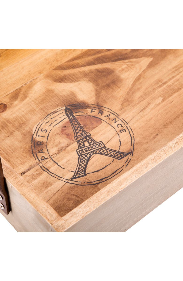 HOME ESSENTIALS AND BEYOND Eiffel Tower Wood Trays - Set of 2, Main, color, NO COLOR
