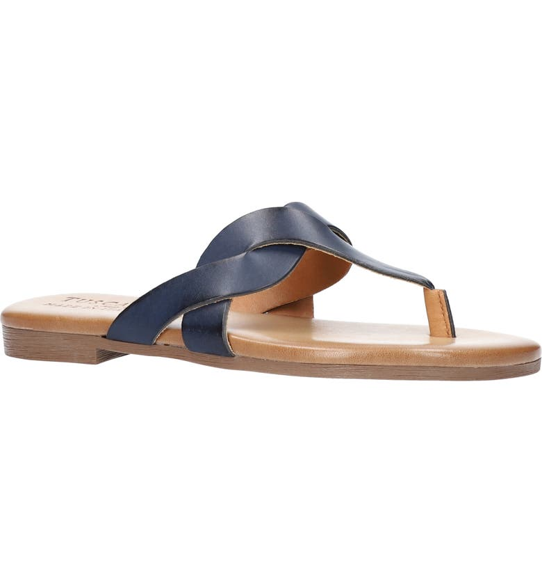 TUSCANY BY EASY STREET<SUP>®</SUP> Abriana Flip Flop, Main, color, NAVY FAUX LEATHER