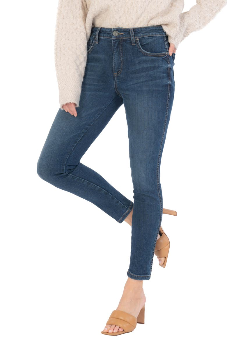 KUT FROM THE KLOTH Donna Fab Ab High Waist Ankle Skinny Jeans, Main, color, ALIVE