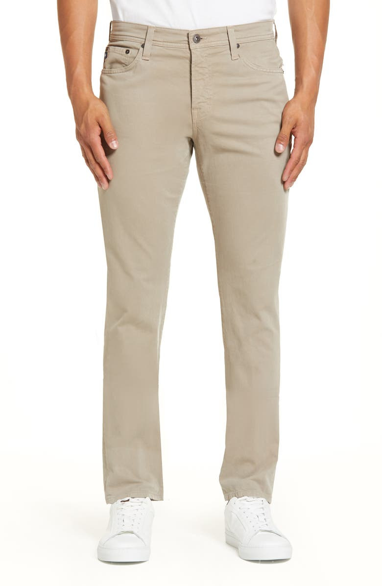 AG Everett SUD Slim Straight Fit Pants, Main, color, STORMY SAND