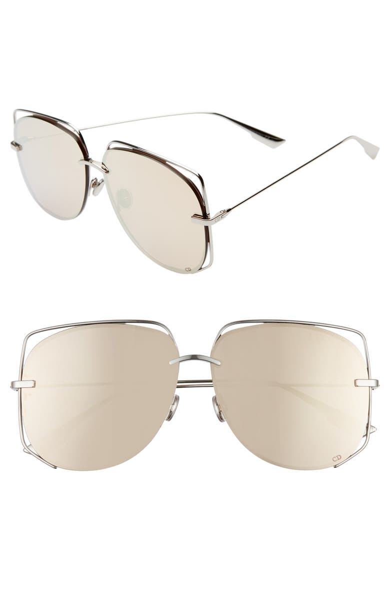DIOR Stellair 61mm Aviator Sunglasses, Main, color, 043