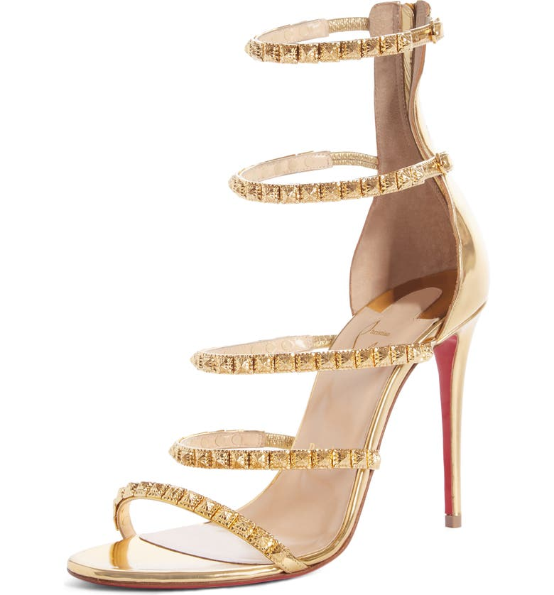 CHRISTIAN LOUBOUTIN Forever Girl Spike Cage Sandal, Main, color, 710