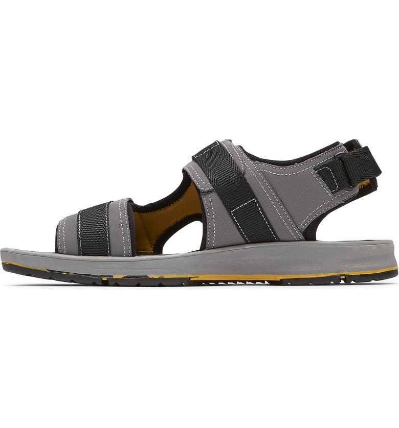 ROCKPORT Lucky Bay Sport Sandal, Main, color, GREY NBK