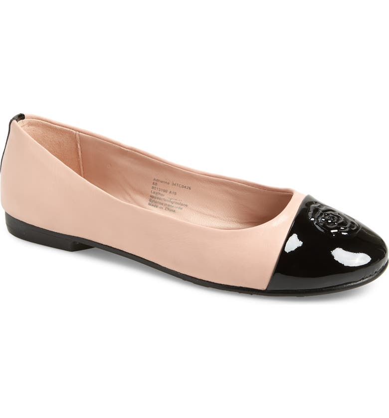 TARYN ROSE Collection Adrianna Cap Toe Skimmer Flat, Main, color, 002
