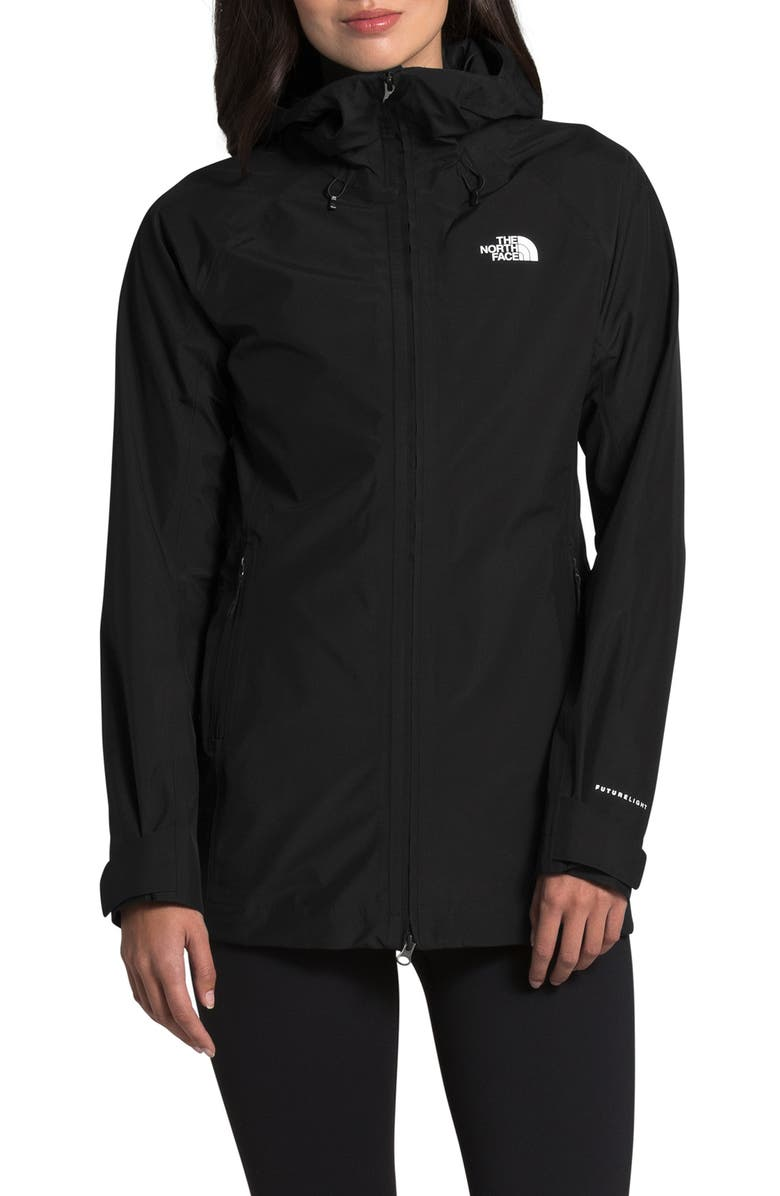 THE NORTH FACE Dryzzle Futurelight<sup>™</sup> Packable Waterproof Hooded Jacket, Main, color, TNF BLACK