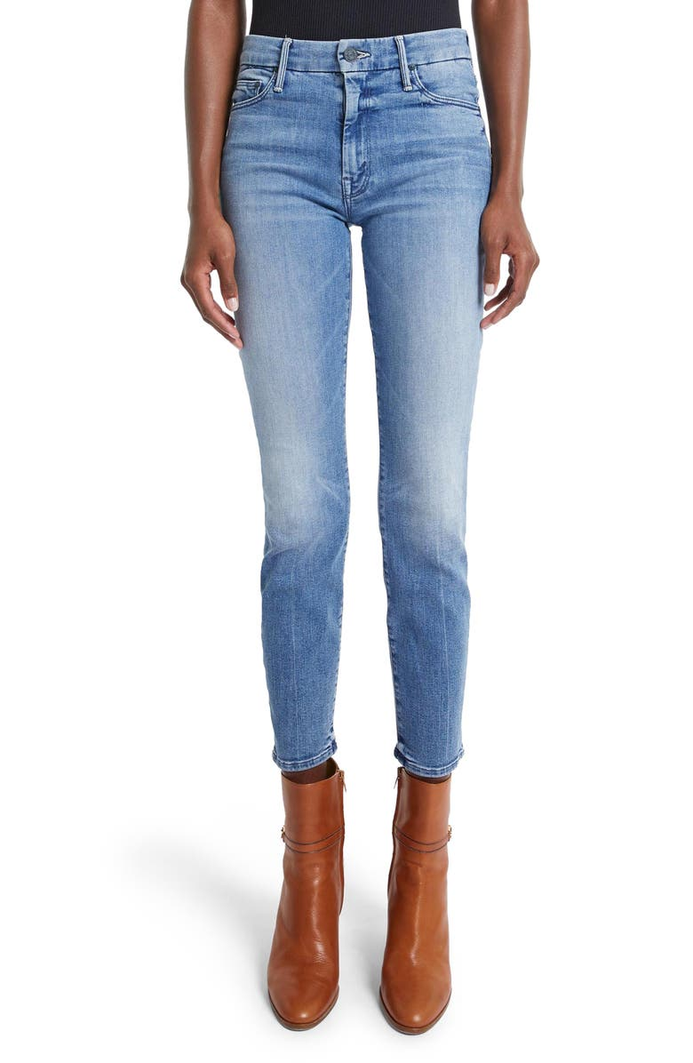 MOTHER Looker Ankle Skinny Jeans, Main, color, WE THE ANIMALS