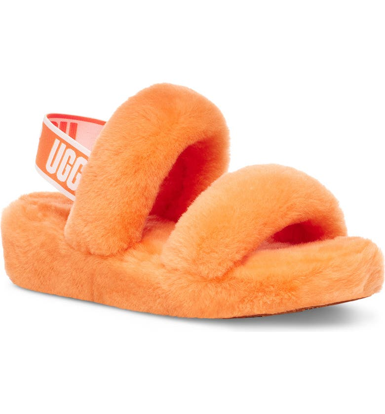 UGG<SUP>®</SUP> Oh Yeah Slingback Slipper, Main, color, CALIFORNIA POPPY
