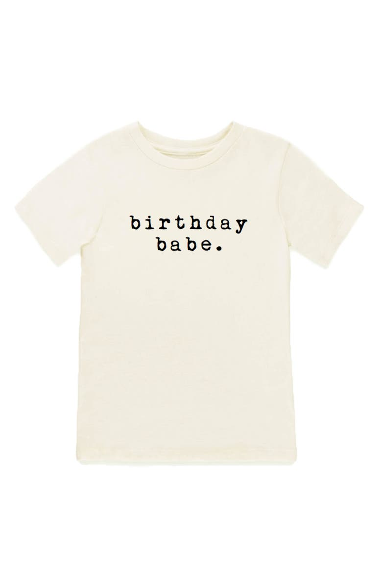 TENTH & PINE Birthday Babe Graphic Organic Cotton T-Shirt, Main, color, NATURAL