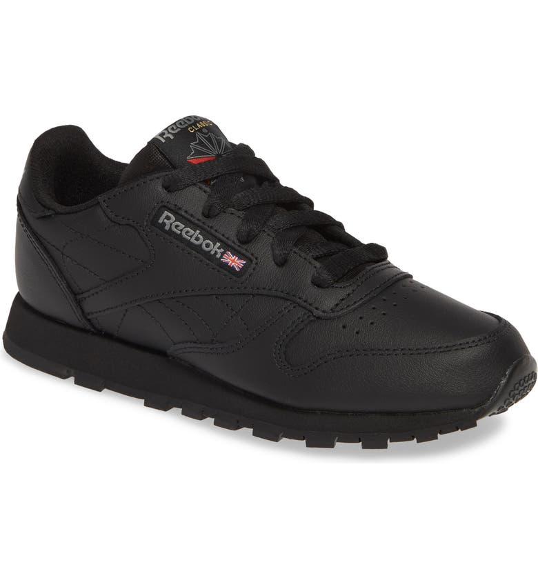 REEBOK Classic Leather Sneaker, Main, color, Black