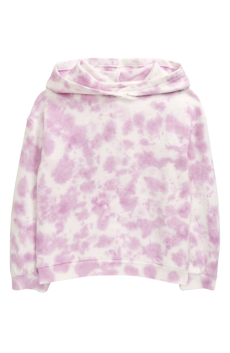 TUCKER + TATE Kids' Cozy Tie Dye Hoodie, Main, color, PURPLE FEMININE TIE DYE