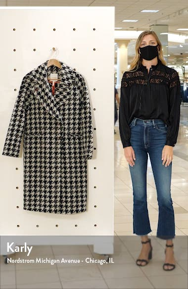 Houndstooth Oversize Double Face Coat, sales video thumbnail