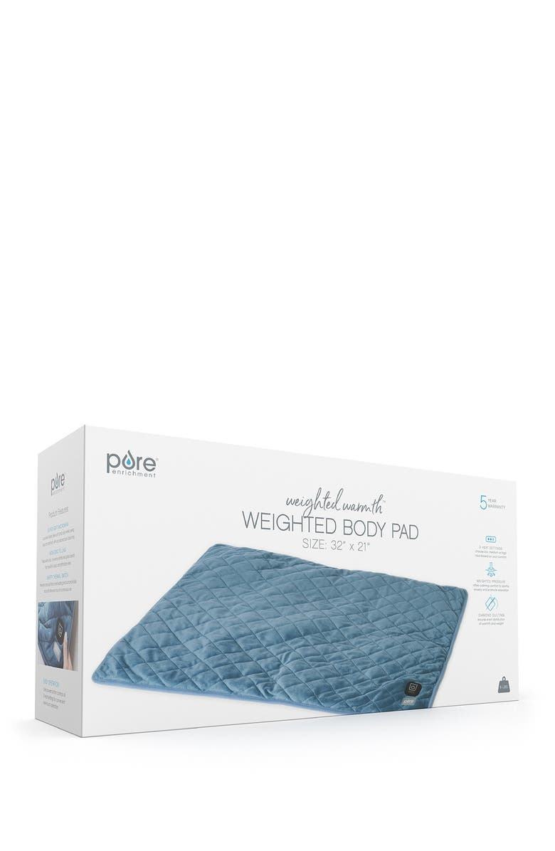 PURE ENRICHMENT Weighted Warmth Body Pad, Main, color, NAVY