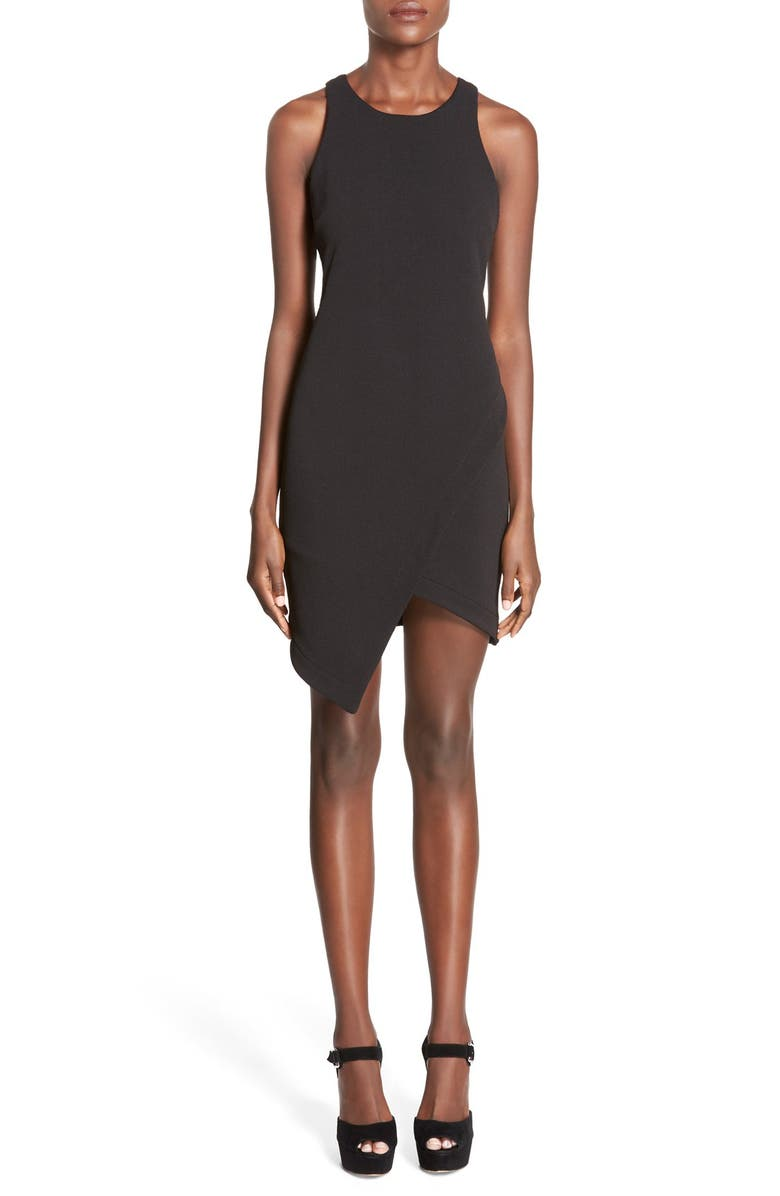 LEITH Stretch Crepe Tank Dress, Main, color, 001