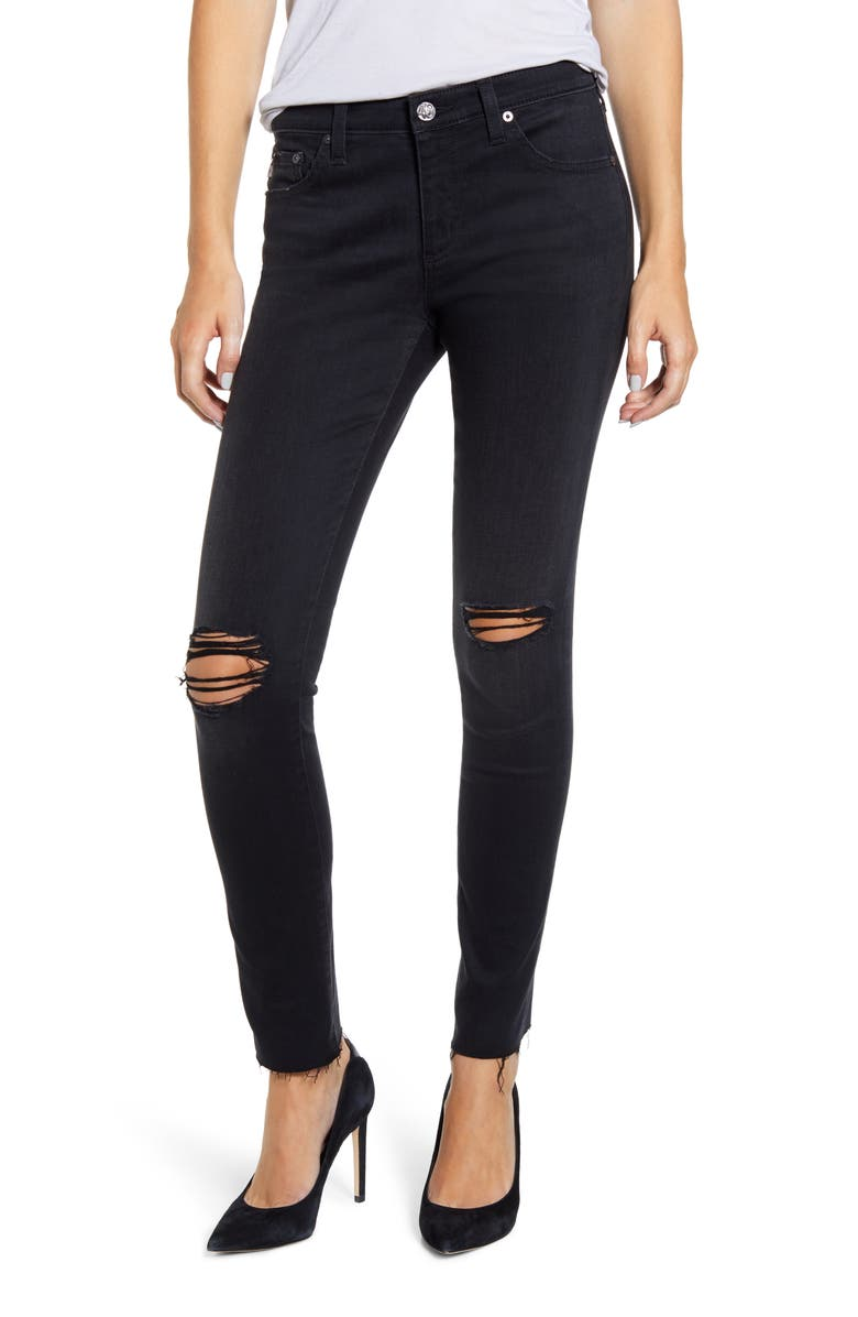 AG The Legging Super Skinny Jeans, Main, color, 02Y SOMBER DESTRUCTED