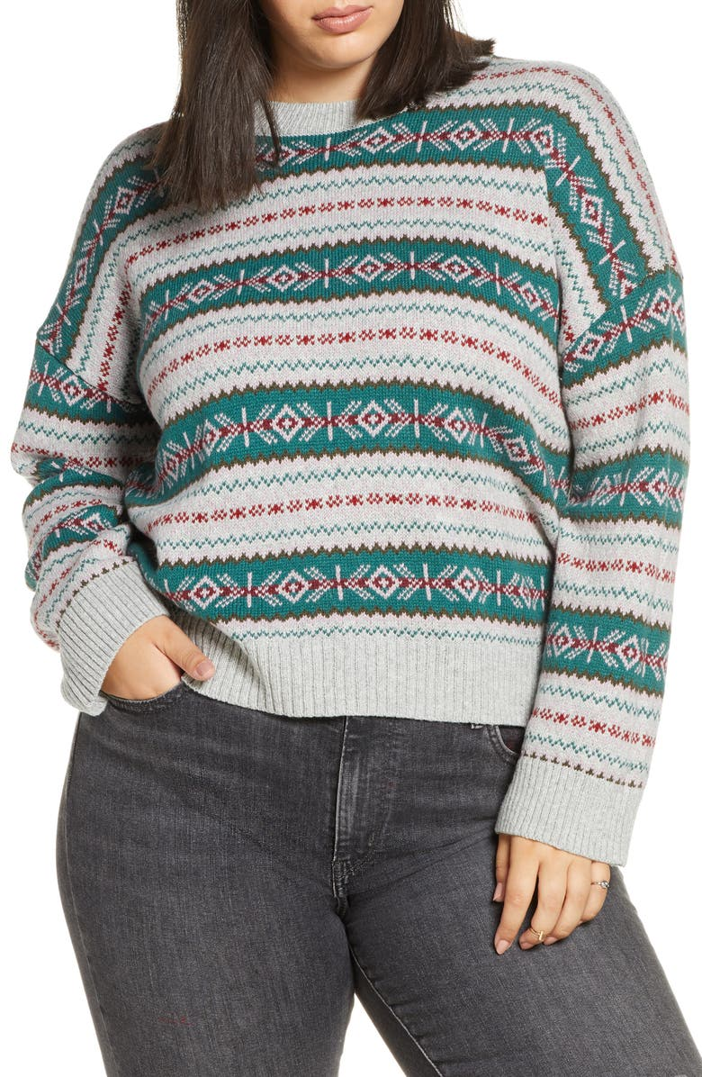 BP. Fair Isle Crewneck Sweater, Main, color, 301