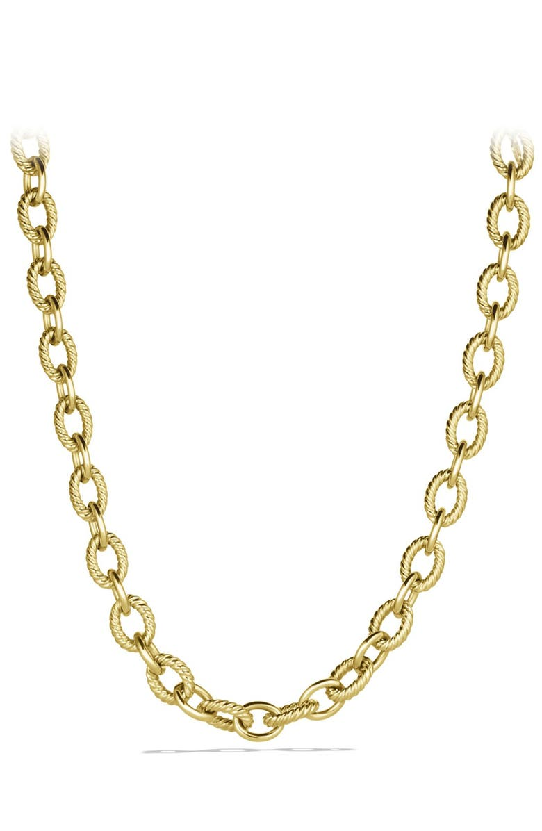 DAVID YURMAN Oval Large Link Necklace in Gold, Main, color, Gold