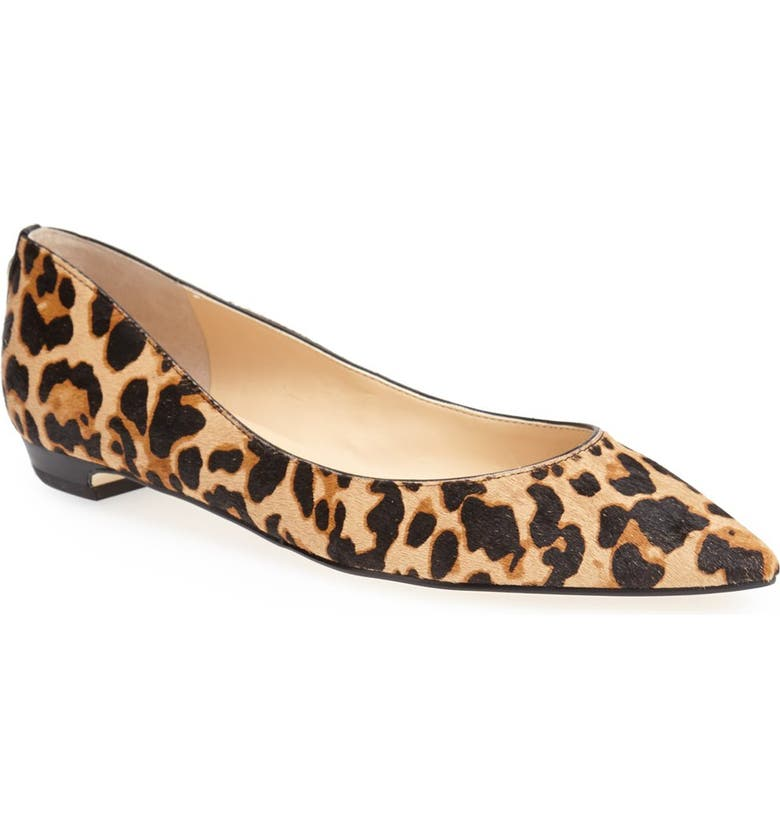 IVANKA TRUMP 'Tizzy' Pointed Toe Ballet Flat, Main, color, 001