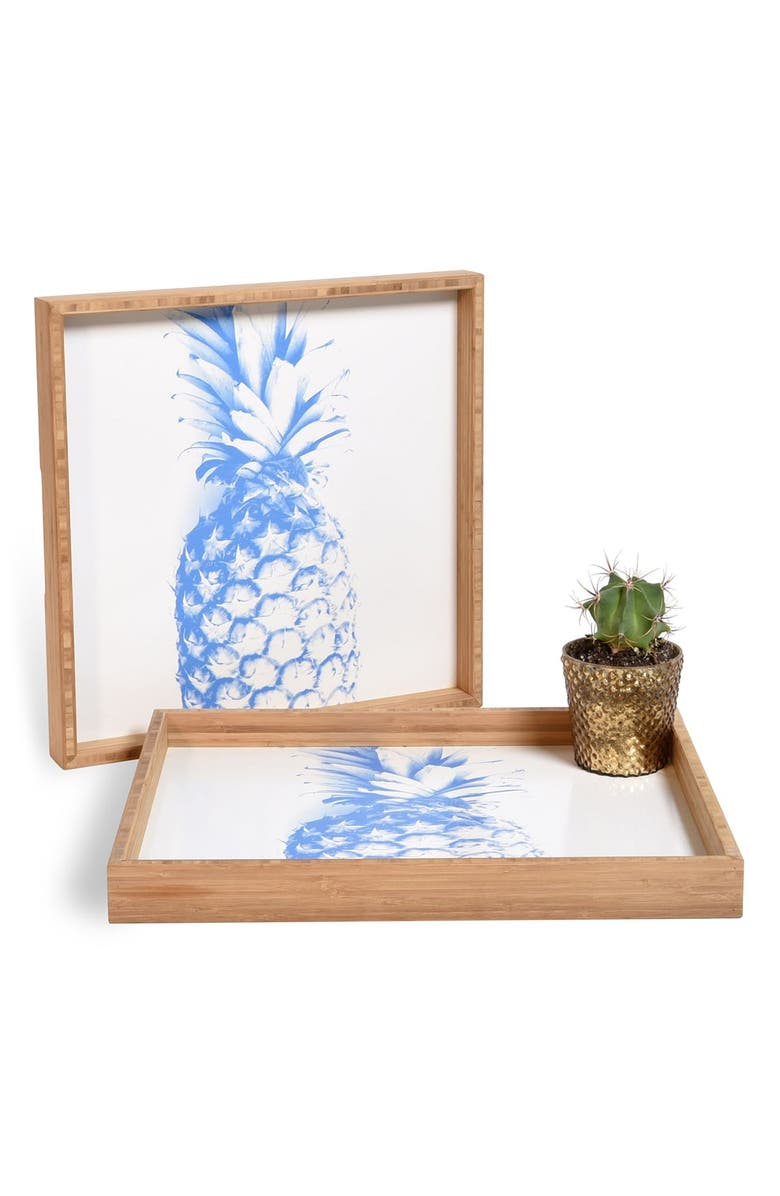 DENY DESIGNS 'Pineapple' Decorative Serving Tray, Main, color, 400