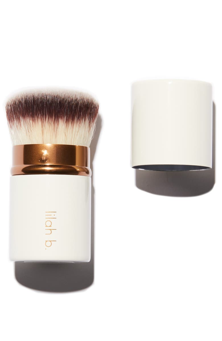 LILAH B. Retractable Crème Foundation Brush, Main, color, 000