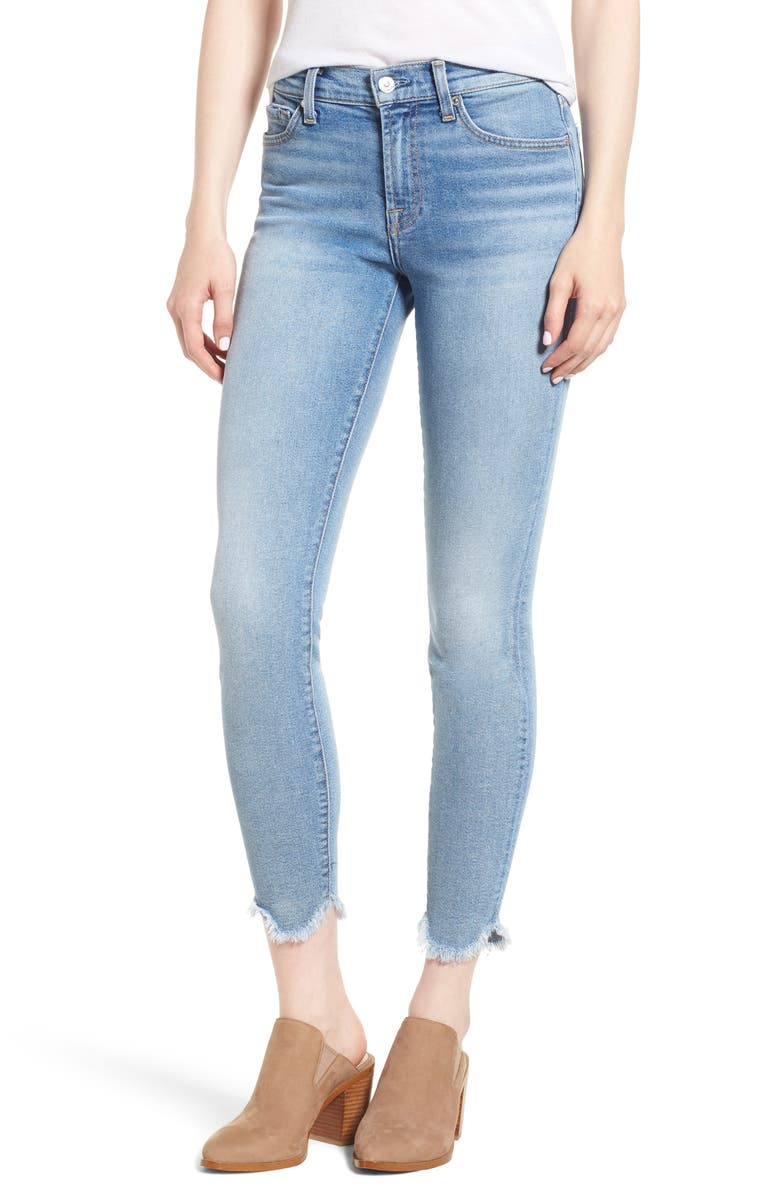 7 FOR ALL MANKIND<SUP>®</SUP> Luxe Vintage Scallop Hem Ankle Skinny Jeans, Main, color, 400