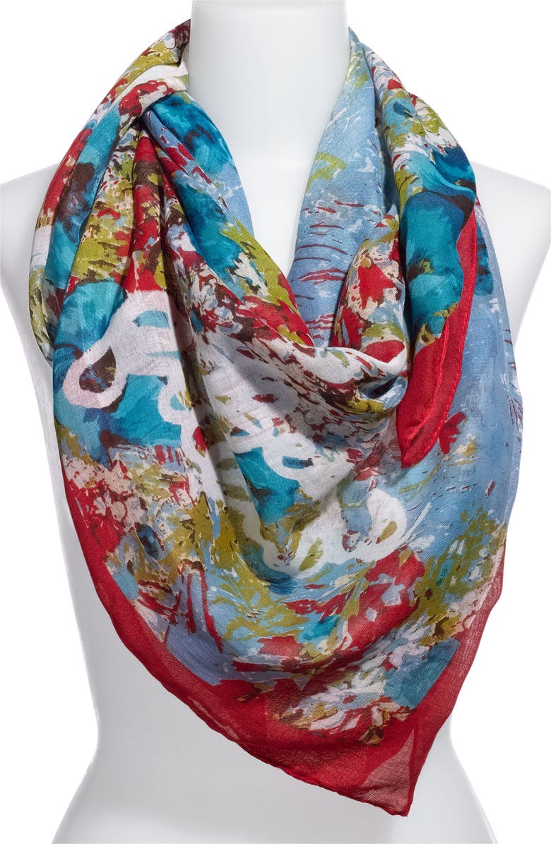 MADE OF ME 'Best Friends' Floral Scarf, Main, color, MINT