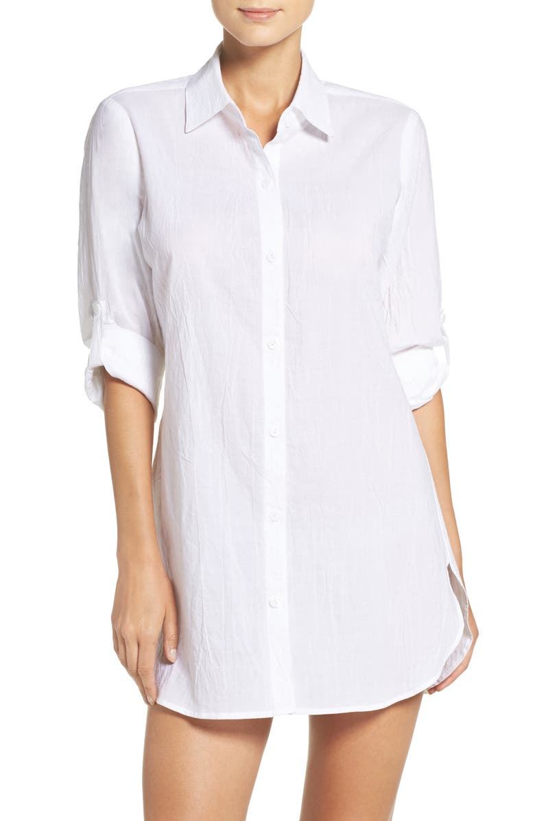 TOMMY BAHAMA Boyfriend Shirt Cover-Up, Main, color, 102