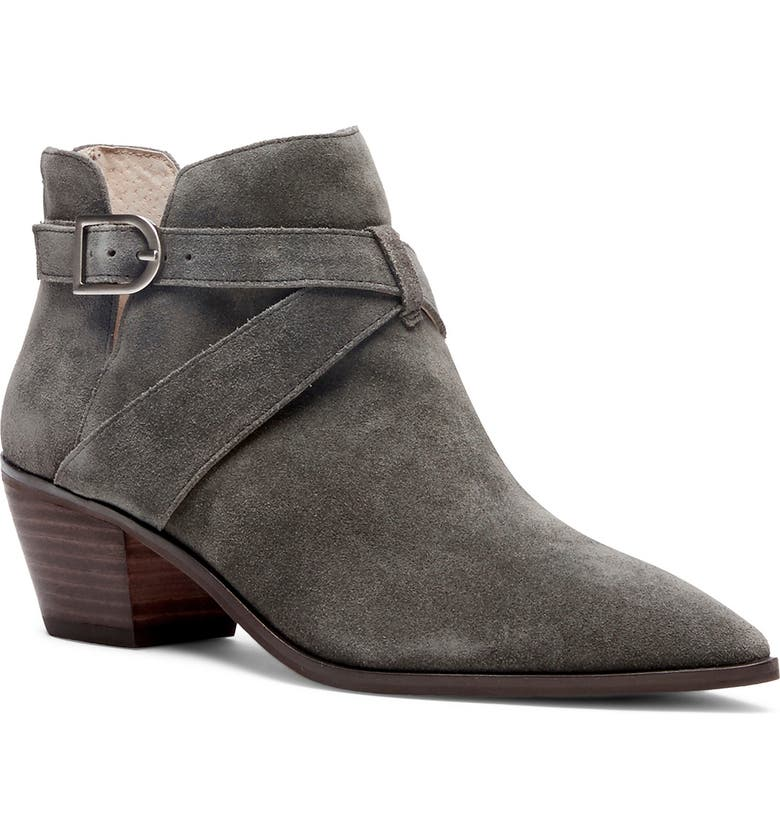 SOLE SOCIETY Lanica Bootie, Main, color, FOSSIL GREY SUEDE