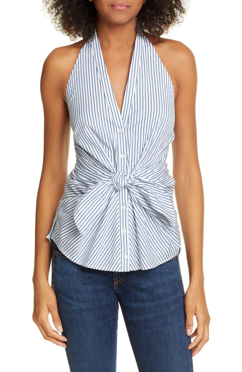 VERONICA BEARD Vea Stripe Halter Top, Main, color, 400