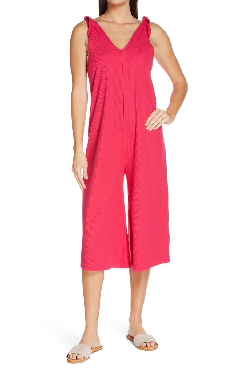CHELSEA28 Rib Cover Up Jumpsuit, Main, color, PINK BRIGHT