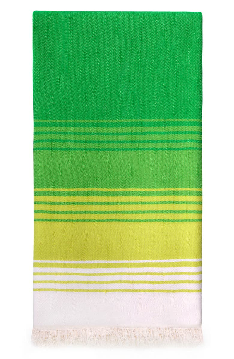 MEDITERIEN DEEP Reef Stripe Hand Loomed Cotton Beach Towel, Main, color, 300